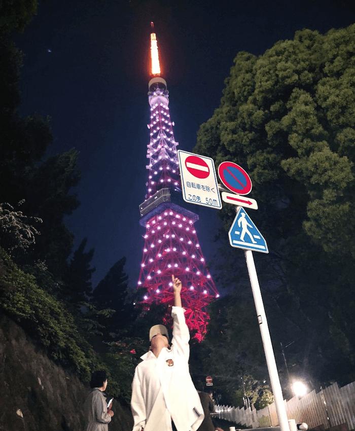 テテが訪れた東京タワー